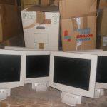 Die Geräte nach der Ankunft in der Lagerhalle in Chisinau